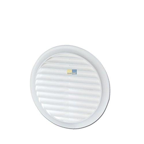 Grille de ventilation 100 rond blanc filet anti-insectes pour intérieur et extérieur