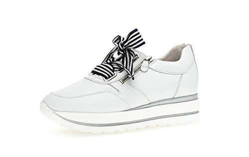 Gabor Damskie buty sportowe Jollys 43.412, biały - Weiss Marine Kombi - 39 eu