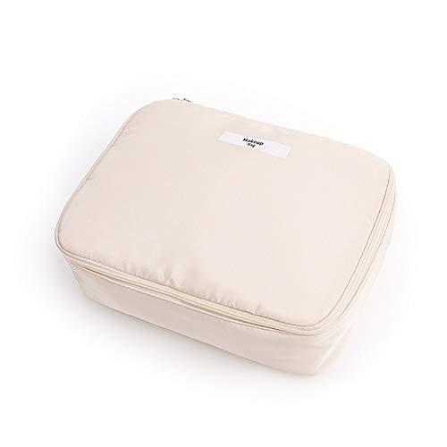 PoplarSun Maquillage Femmes Sac étanche de Grande capacité Voyage Organisateur cosmétique Sac Neceser Rose Wash Sacs Portable Toilette Make Up Pouch (Color : Beige)
