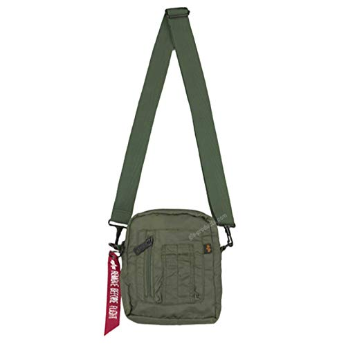 Alpha Industries Crew Carry Bag 196924 Nylon Schultertasche, Farbe:sage green