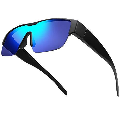 TINHAO オーバーグラス 偏光 めがねの上からオーバーサングラス 軽量TR90 スポーツサングラス 偏光レンズ UVカット 反射光・強光・眩しい光防止 ドライブ/ゴルフ/釣り/ランニング/アウトドア メンズ レディース 偏光サングラス