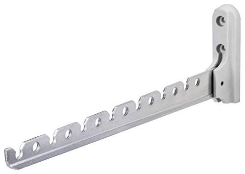 Gedotec Aufbau-Haken Kleiderhaken Garderobe Kleiderlüfter klappbar ALISA | Länge 330 mm | Aluminium silber | Klapphaken für Kleiderbügel | 1 Stück - Wand-Kleiderhalter für Balkon & Schränke
