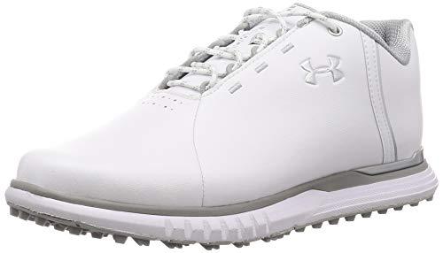 Under Armour Damen Fade Sl Golfschuhe, Weiß (White/Overcast Gray/Metallic Silver (100) 100), 36.5 EU