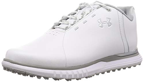 Under Armour Damen Fade Sl Golfschuhe, Weiß (White/Overcast Gray/Metallic Silver (100) 100), 38 EU