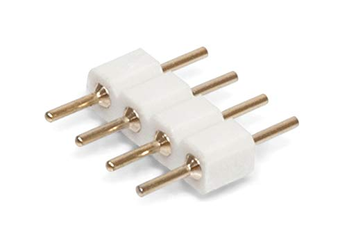 10er Pack 4 pol Pin   Kupplung   Verbinder   Stecker   Lötstift für RGB LED Streifen