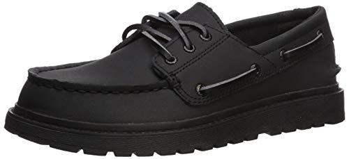 Sperry Boys' AO Twisted Lug Boat Shoe, Black, 13.5 M US Little Kid