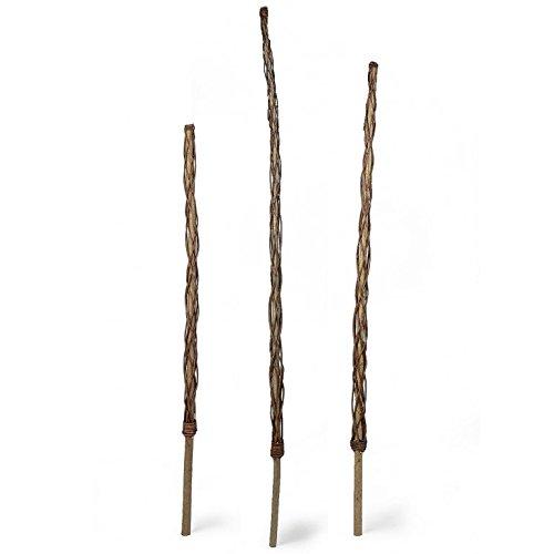Weidenprofi Rankstab, Rankhilfe aus Haselholz mit Weide umflochten - Größe 130 cm
