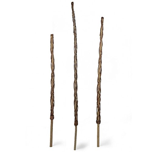 Rankstab aus Haselnuss, mit Weide umflochten in 3 Höhen (160 cm)