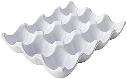 Preisvergleich für Keramik-Eierbox für 12 Eier, zur Aufbewahrung im Kühlschrank, keramik, weiß