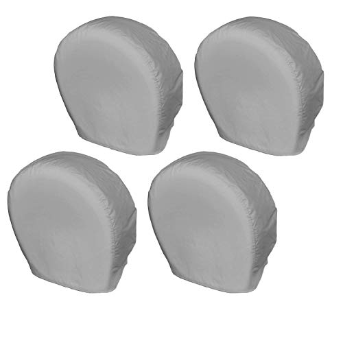 Explore Land Tire Covers 4 Pack - Tough Tire Wheel Protector for Truck, SUV, Trailer, Camper, RV - Universal Fits Tire Diameters 26-28.75 inches, Charcoal