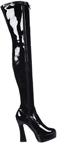 Pleaser ELECTRA-3000Z, Damen Over-Knee Stiefel, Schwarz (Schwarz (Blk Str Pat)), 43 EU (10 Damen UK)