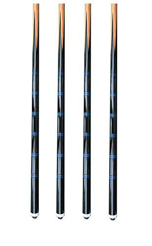 GamePoint 4 Einteilige Hausqueues Billard-Queues Eco, ca. 140cm mit ca. 12 mm Schraubleder