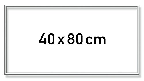 Schipper 605250768 - Malen nach Zahlen - Alurahmen 40 x 80 cm, Silber matt ohne Glas für Ihr Kunstwerk, einfache Selbstmontage