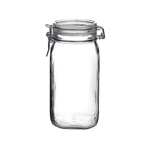 Bormioli Rocco Fido Clear Jar, 50.75 Oz, 50.75 Ounce,