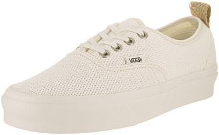 Vans Unisex Authentic PT (Basket Weave) Marshmellow Skate Shoe 4.5 ...