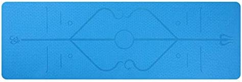 1830 610 6mm Popular brand TPE Yoga Mat Slip Spasm price Carpet Non with Line Position
