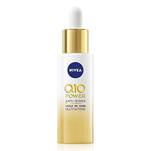 NIVEA Q10 Power Anti-Rides Huile de Soin Multi-Actions (1 x 30 ml), Soin visage enrichi en Huile d'Argan BIO et Q10, Huile visage pour une peau éclatante de jeunesse