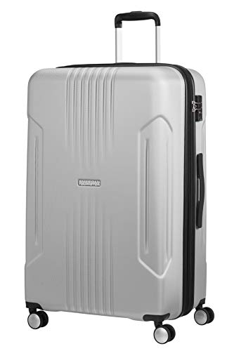 American Tourister Tracklite - Spinner L Expandable Suitcase, 78 cm, 105/120 Litre, Silver