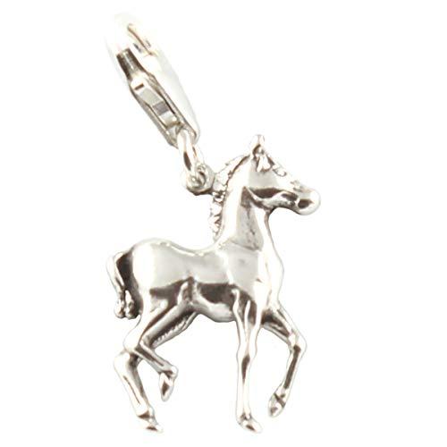 Sterlingsilber Kolt/Pony/Pferd Clip-Anhänger - Gelötet an Haken