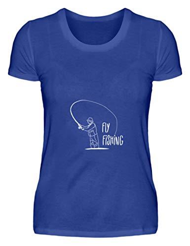 Schuhboutique Doris Finke UG (haftungsbeschränkt) Fly Fishing Fliegenfischen - Damen Premiumshirt -M-Royal Blau