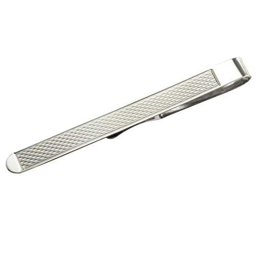 Pince à Cravate à Motifs en Argent 925/1000