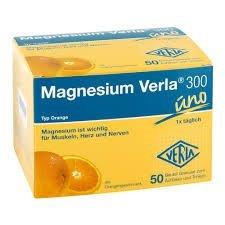 Magnesium Verla® 300 Typ Orange Spar-Set 2x50Beutel. Hochdosiertes Trinkgranulat, ideal zur Deckung eines erhöhten Magnesiumbedarfs. Glutenfrei und ohne Lactose