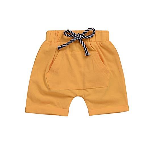 Julhold Peuter Kinderen Baby Jongens Meisjes Knappe Casual Pocket Elastische Tailleband Strand Katoen Shorts Zomer 2019 0-4 Jaar