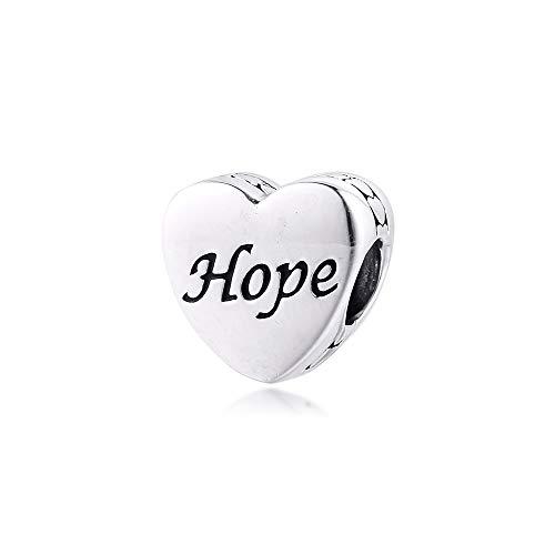 LILANG Pandora 925 Pulsera de joyería Natural se Adapta a Dove of Hope Charm Cuentas de Plata esterlina Genuina para Berloques Mujeres Regalo DIY