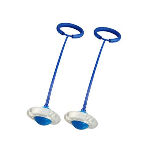 BESPORTBLE Knöchel Überspringen Ball Flash Jump Sport Swing Ball Fitness Springseil Fettverbrennungsspiel für Erwachsene Und Kinder (Blau)
