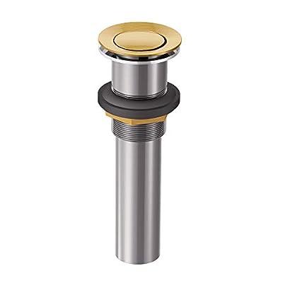 Moen 140780BG Collection Bathroom Vessel Sink Pop-Up Drain Assembly, Brushed Gold