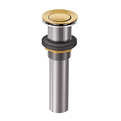 Moen 140780BG Bathroom Vessel Sink Pop-Up Drain Assembly, Brushed Gold