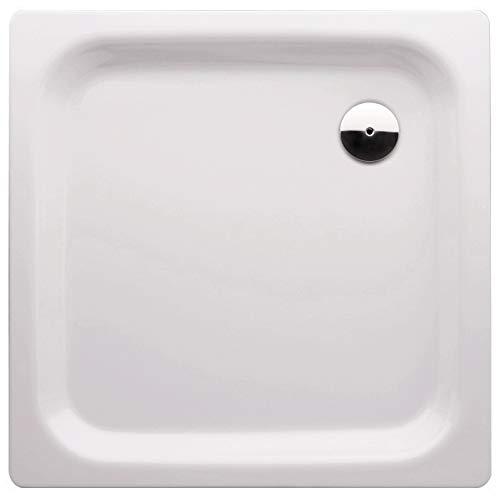 'aquaSu® Stahl-Brausewanne Glata | 90 x 90 x 6,5 cm Weiß