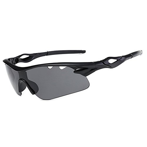 DAUCO Polarisierte überbrille Fahrradbrille Sportbrille Sportliche Sonnenbrille UV400 Schutz für Herren & Damen Extra Leicht Fahrrad Autofahren Laufen und Sport