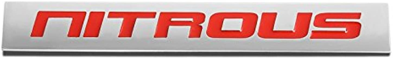 UrMarketOutlet Nitrous Red/Chrome Aluminum Alloy Auto Trunk Door Fender Bumper Badge Decal Emblem Adhesive Tape Sticker
