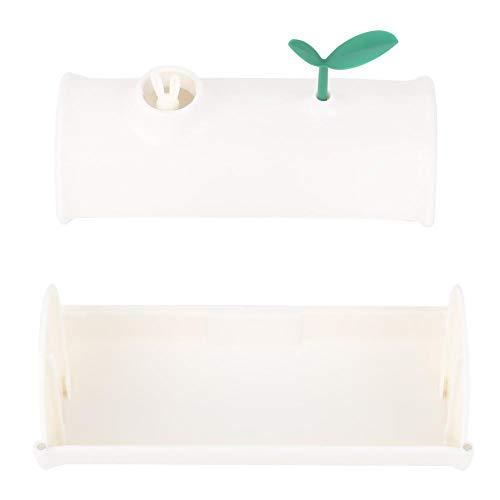Witte plastic vuilniszakdispenser, kleine aan de muur gemonteerde vuilniszak opbergdoos geschikt voor keuken, toilet, slaapkamer, kantoor, woonkamer