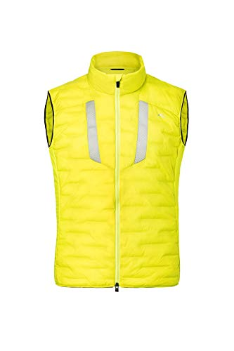 KJUS Men 7sphere II Flake Tec Vest Gelb, Herren Daunen Weste, Größe 58 - Farbe Citric Yellow