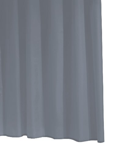 RIDDER 31317S-350 Duschvorhang Folie ca. 180 x 200 cm, Standard grau inklusive Ringe