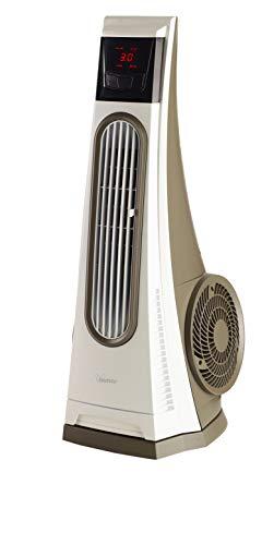 Bimar VC92 Ventilatore Colonna Oscillante'Tornado', Ventilatore a Colonna con Turbina ad Alte Prestazioni, Ventilatore con Telecomando, Timer, Deflettore, Oscillazione Destra Sinistra Automatica