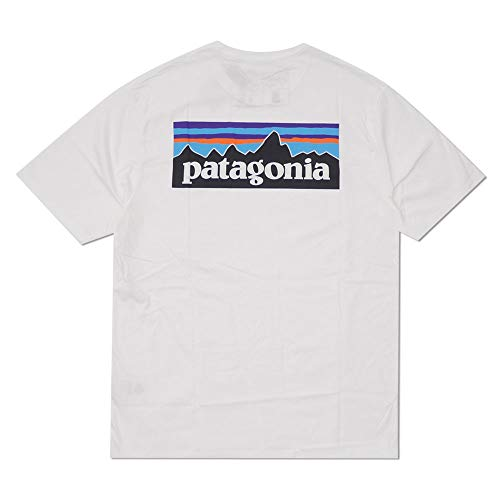 [Patagonia(パタゴニア)] 2020SS P-6 Logo Organic T-Shirt REGULAR FIT 38535 新品… (WHITE, L)