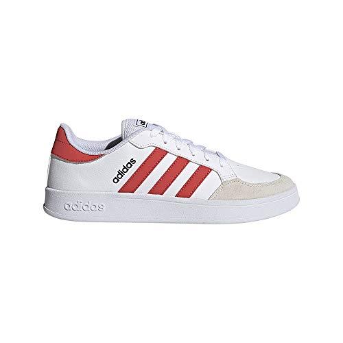 adidas BREAKNET, Zapatillas de Tenis Hombre, FTWBLA/ROJTRI/NEGBÁS, 41 1/3 EU
