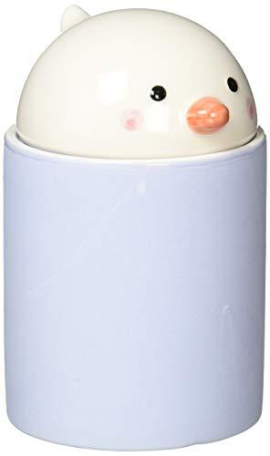 サンアート かわいい食器 「 サラサラ素焼の陶器 」 湿気 鳥(トリ) 塩 保存容器・キャニスター 300ml 紫 SAN2863-2