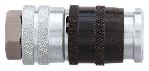 """Parker Hannifin EZ-371-6FP Series E-Z-Mate Steel Special Purpose Exhaust Venting Pneumatic Quick Coupler with Female Pipe Thread, 2.53"""" Length"""