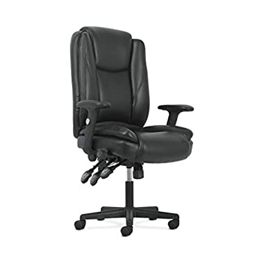 Sadie High-Back Leather Office/Computer Chair – Ergonomic Adjustable Swivel Chair with Lumbar Support (HVST331)