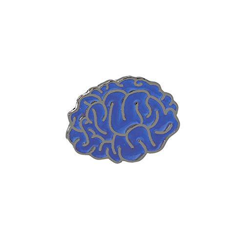 Relovsk Cartoon Emaille Pin Gehirn Zelt Kreis Getränk Symbol Anstecknadel Denim Jeans Hemd Tasche Vintage Abzeichen Brosche Schmuck Geschenk für Freunde-Gehirn
