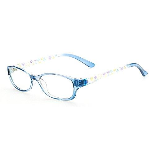 juqilu juqilu Rechteck Gläser für Kinder - Jungen und Mädchen Transparente Linsen Lesen Gläser Kunststoff Brillenfassung Klassisches Brille mit Auto Form Brillenetui