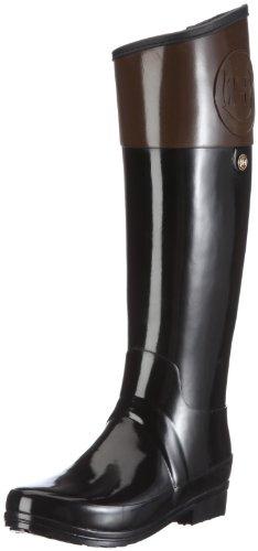 Hunter Regent Carlyle - Botas de Agua de caña Alta para Mujer - diseño Bicolor, Color marrón, Talla 35/36