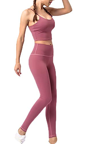 cxzas852 Women's Bodybuilding Hip Stretch Fitness Pants Women's Sports Tight Running Quick-Drying Training Compression Yoga Pants Sweatpants Red
