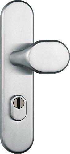 ABUS Tür-Schutzbeschlag KLZS714 ER, mit Zylinderschutz rundedel, stahl, 12227
