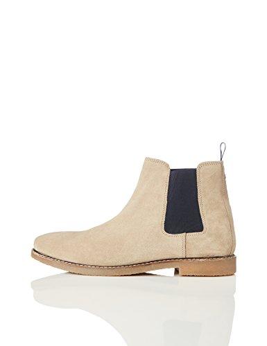 find. Camberly Herren Chelsea Boots, Braun (Beige), 45 EU