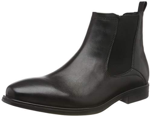 ECCO Herren Melbourne Chelsea Boots, Schwarz (Black 1001), 43 EU